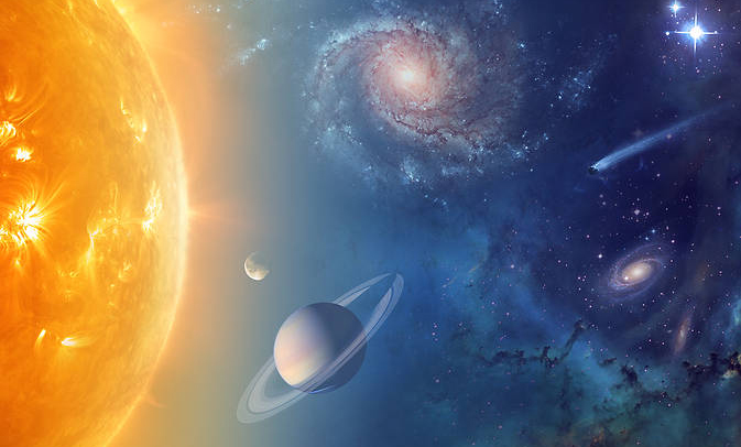 NASA is exploring our solar system and beyond to understand the workings of the universe, searching for water and life among the stars. (Courtesy, NASA)