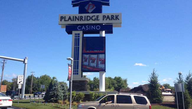 plainridge park casino sign_218796