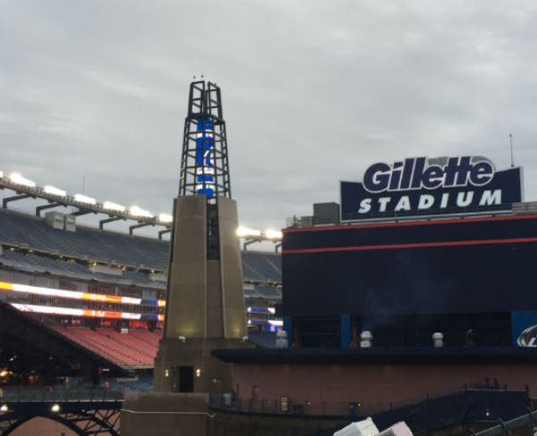 Outside Gillette Stadium on a cloudy day web_138885