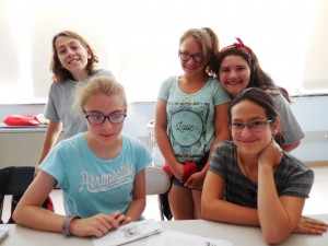 (L-R) Emma D'Allesandro, Katelynn Pellegrini, Arianna Granger, Emily Schieppe and Melody Latchaw studied the effects of Nature Deficit Disorder and ways to combat the problem. (Photo by Amy Porter)
