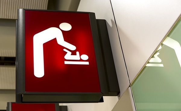 Baby Changing Sign Lightbox in the airport_480642