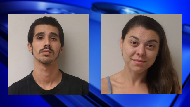 Police booking photos of Joshua Hart and Brittany Smith, suspects in the home invasion killing of 95 year-old Thomas Harty. Images Courtesy: Orange Police Department