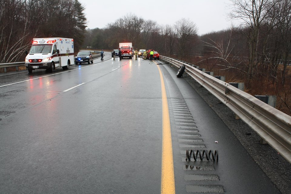 2 hurt in apparent wrong-way crash on Route 2 in Greenfield