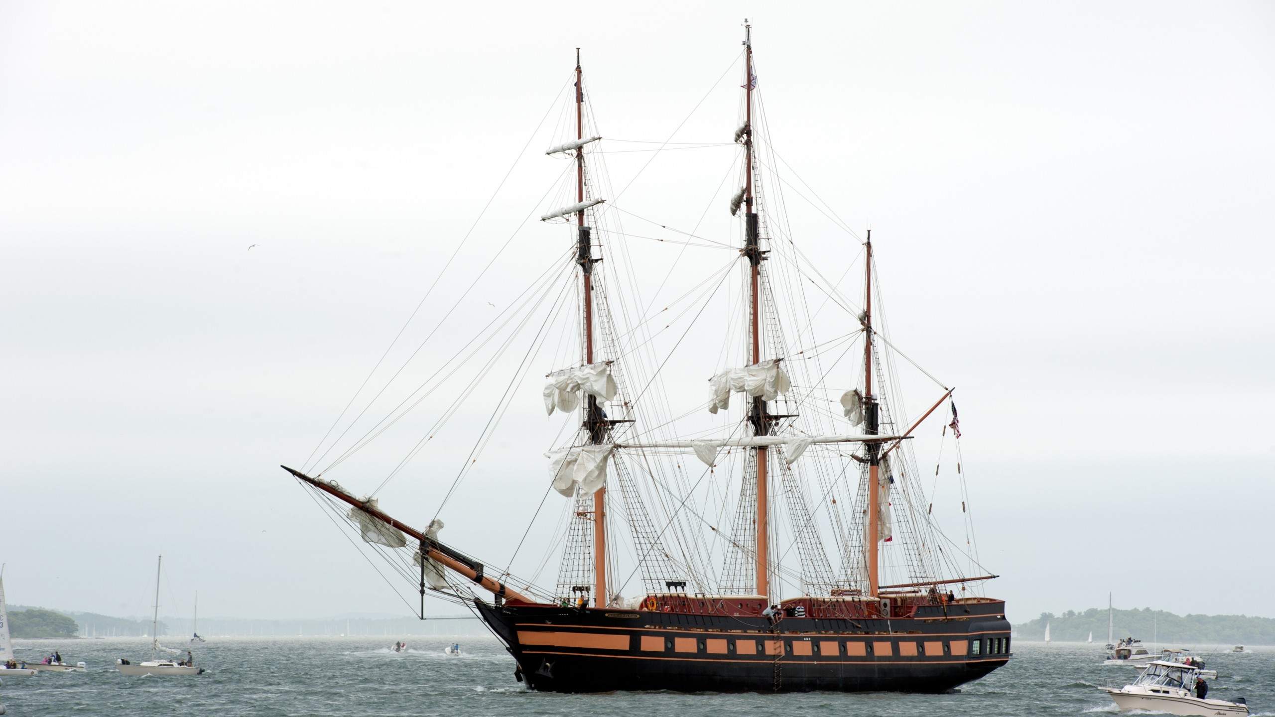 Oliver Hazard Perry tall ship in Portland Harbor_722224