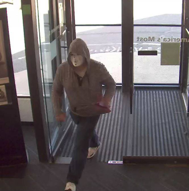 Surveillance image captured at the TD Bank robbed Sunday. Photo Courtesy: Chicopee Police