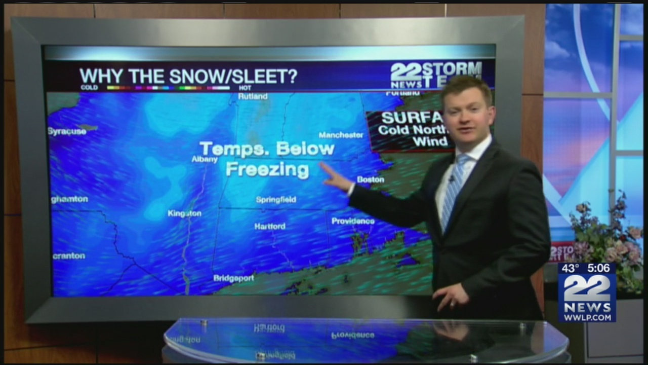 What's causing wintry April weather?