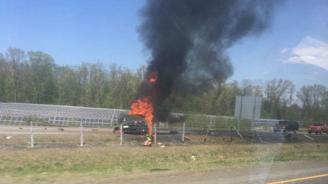 RT 57 car fire