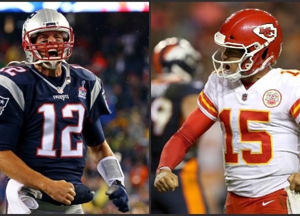 Patriots Tom Brady Chiefs Patrick Mahomes-873736139