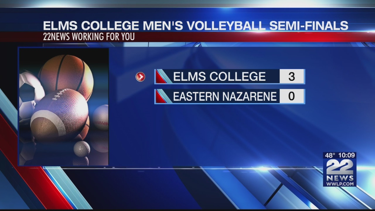 Elm's College men's volleyball team bring home another win