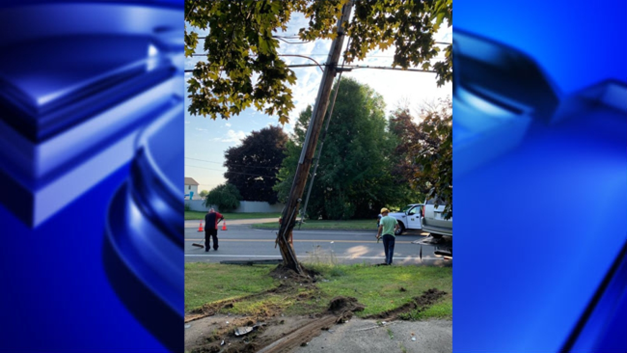 Section Of Chicopee Street Reopened After Car Crashed Into