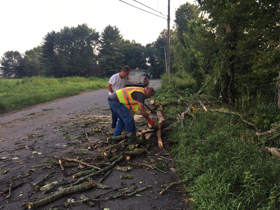 Several roads closed, power outages reported in Deerfield