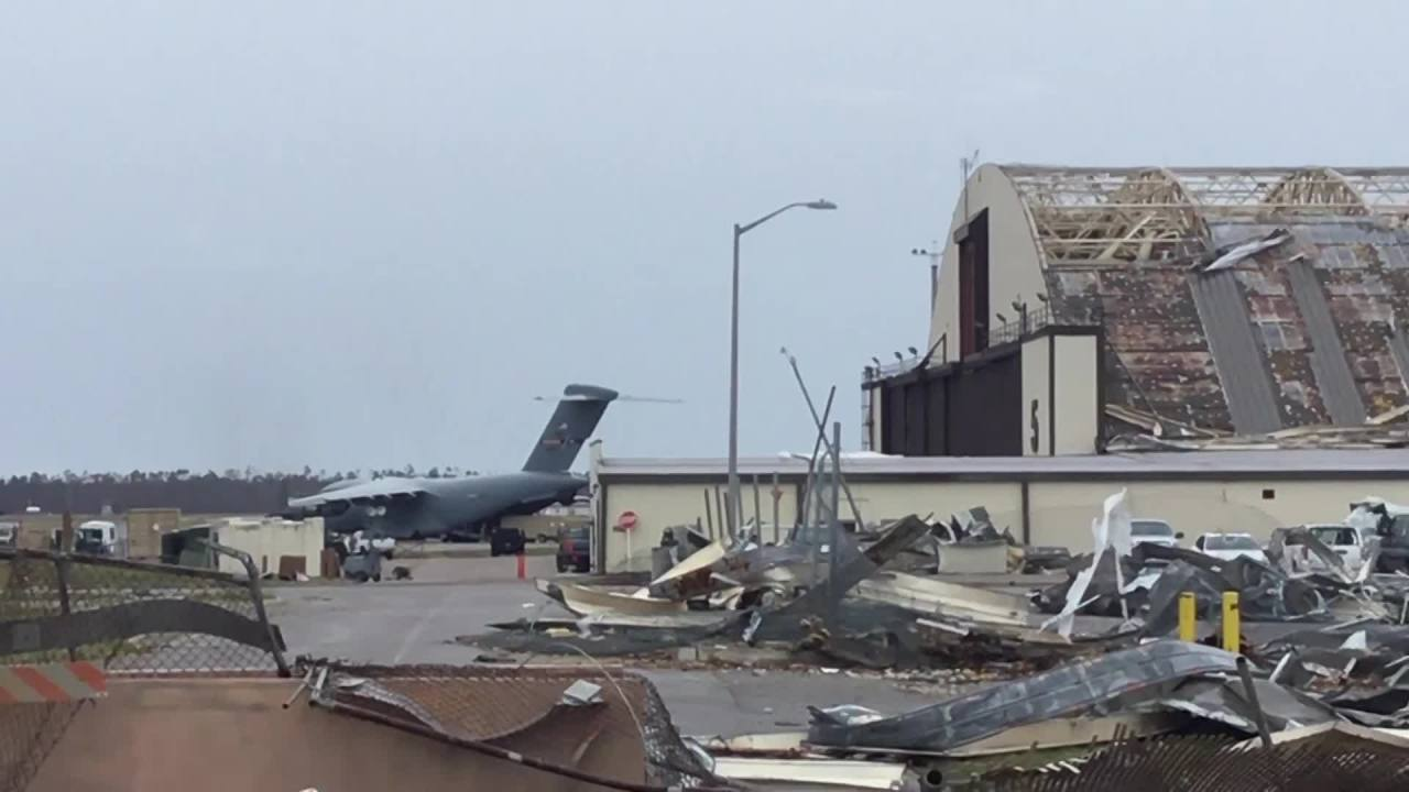 Tyndall Air Force Base in Panama City still suffering from