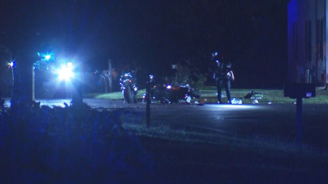 Man life-flighted to hospital after two motorcycles crashed