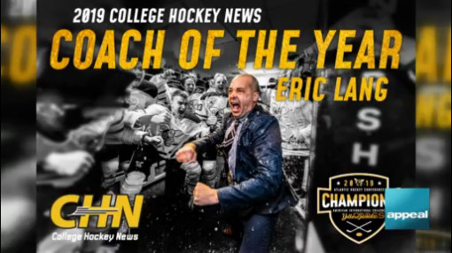 Enjoy lunch with AIC men's ice hockey coach Eric Lang