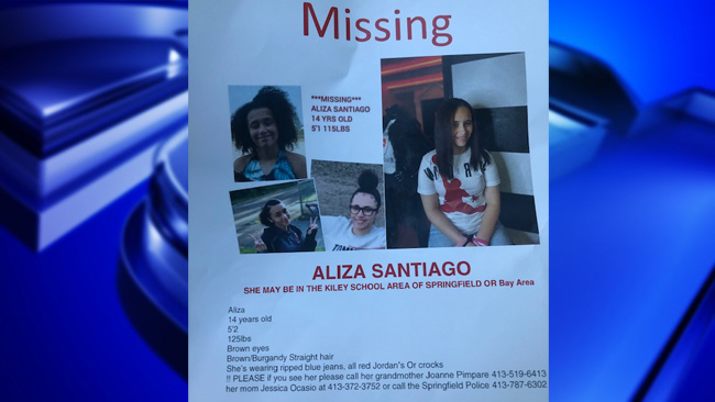 Missing Teenage Girl From Springfield Area Found Safe WWLP