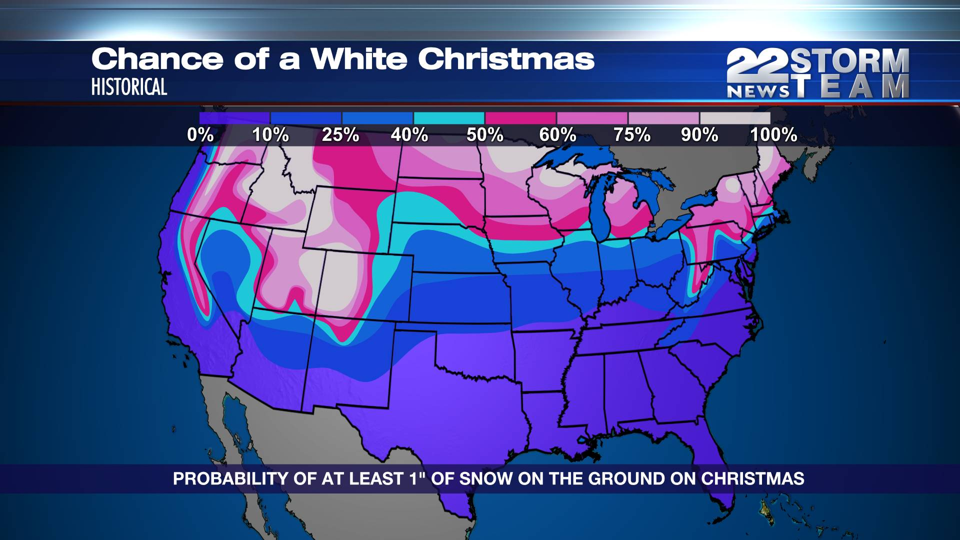 Historical chances of a white Christmas | WWLP