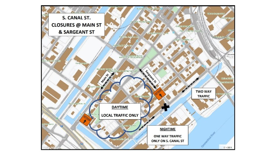 South Canal St in Holyoke to be closed