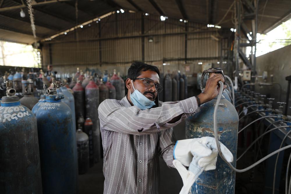 AP photo India Covid 19 oxygen shortage