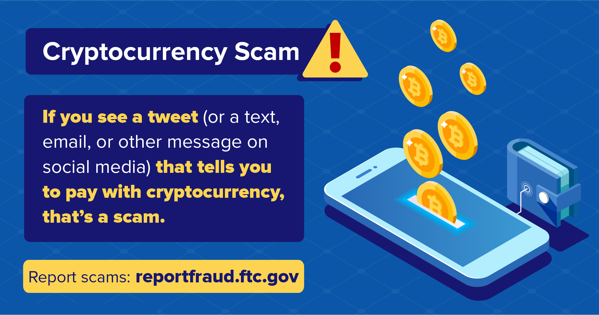 cryptocurrency scam graphic FTC
