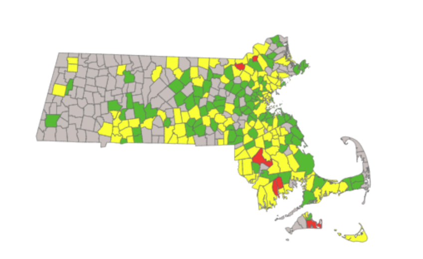 No communities high-risk for COVID-19 in western Massachusetts