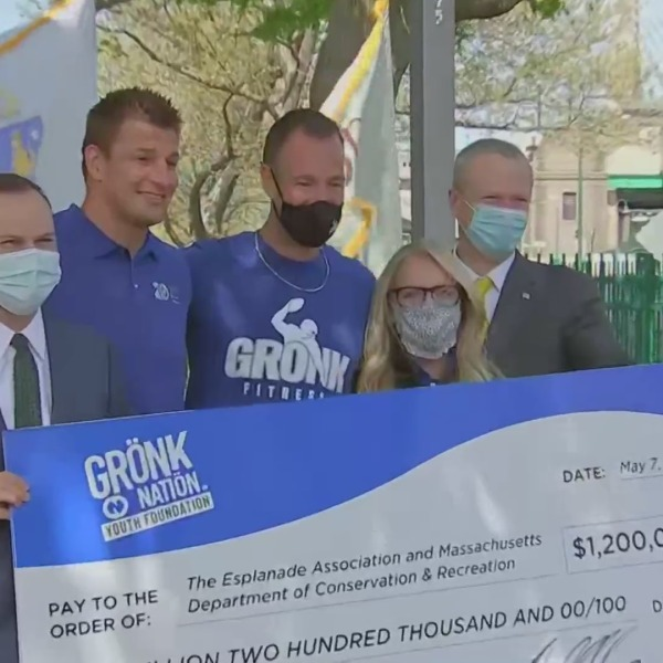 Governor Baker announces playground donation from Rob Gronkowski
