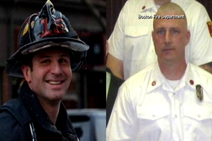 Boston firefighters Edward Walsh and Michael Kennedy, who died in a 2014 fire