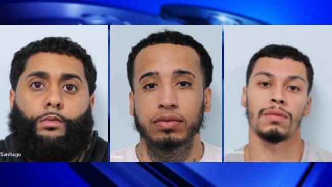 Angel Santiago, Israel Perez, Ricardo Olivera (Springfield Police Department)